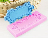 Classic Rectangle Frame Silicone Mold - M-766 -  Baking Fondant Candy Royal Icing