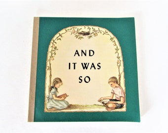 And It Was So Children's Bible Tasha Tudor Bible Lessons Paperback