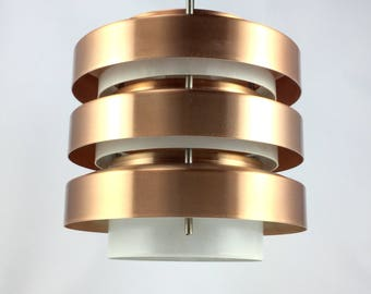 60s 70s copper lamp