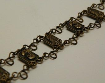 Our Lady of Lourdes Bracelet - Bronze Devotional Bracelet (RB22)