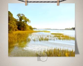 Watercolor art Bradley Creek print, coastal art, ocean art, gifts under, gifts for her, coastal decor, vitaminsea, ocean print, salt life