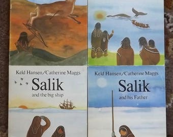 4 books by Keld Hansen and Catherine Maggs Salik and Arnaluk, Salik and His Father