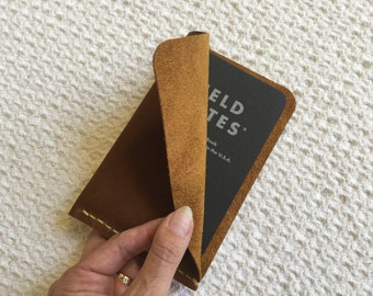 Field Notes leather sheath Field Notes leather case Leather Moleskine Pocket Cahier, Clairefontaine, Word notebook leather notebook cover