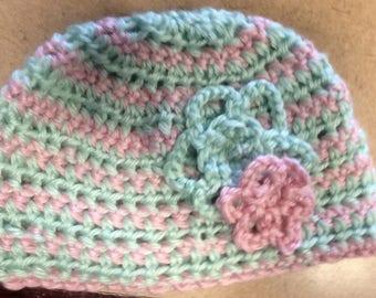 Floral baby cap