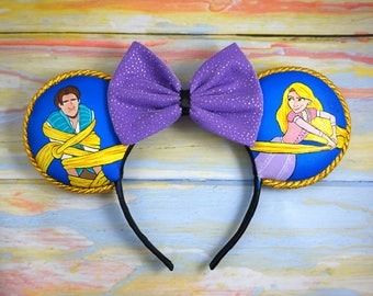 Rapunzel and Flynn Ears (hand painted)