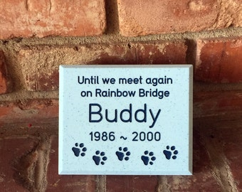 Custom Engraved Pet Memorial  Headstone Dog or Cat Grave Marker  Cemetery Plaque