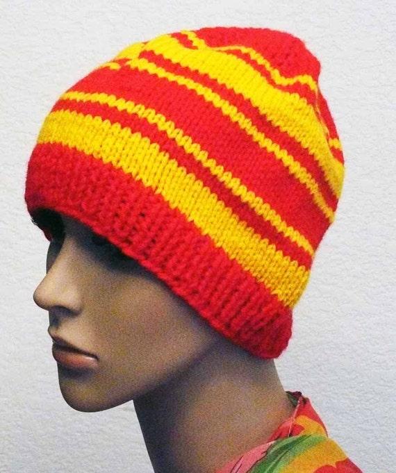 Knitting PATTERN, Knit Striped Beanie Pattern, PDF Knit ...
