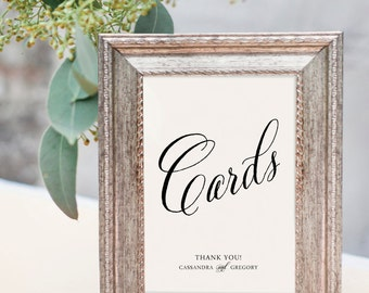 Personalised Printable Cards Sign - Wedding Reception Sign