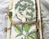 Vintage Nature Journal, Garden Journal, Junk Journal, Art Journal, Prayer Journal, Sketchbook, Mixed Media, Altered Art Book, Handmade