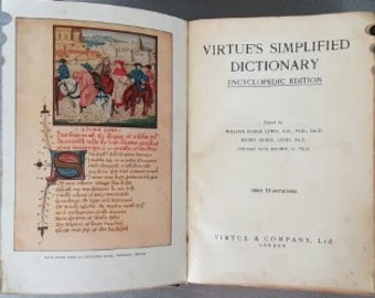 virtues simplified dictionary encyclopedic edition