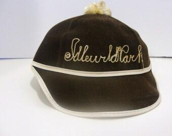 Mid Century Children's Amusement Park Hat for Idlewild Park or  Soak Zone 1950's or Idlewild