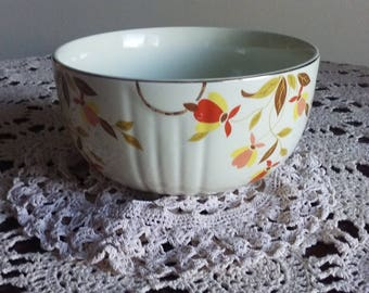 "Hall's superior quality kitchen ware bowl in ""Autumn Leaves"" pattern"