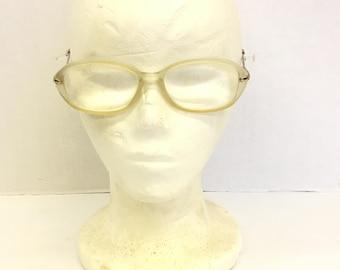 Vintage Eyeglass Frames / Italian glasses / laura biagotti glasses / designer glasses / visibilia glasses / clear frame glasses