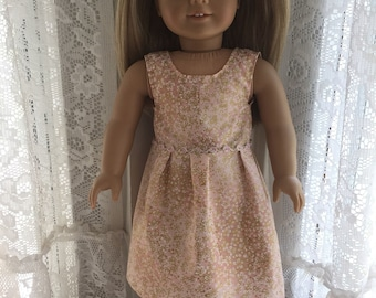 Shimmery pink and gold dress for 18 inch dolls
