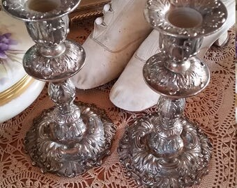 Vintage Silver plate Candle Holders Sticks