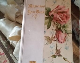Antique Book Roses Musicians Year Book