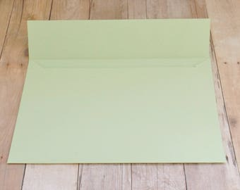 Light Mint Green Matte Envelopes - 4x6 (A6) - Greeting Cards, DIY Invitation Envelopes, Wedding, Birthday, Shower Invitations - Set of 10