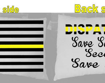 Dispatcher throw pillow with Yellow Line  Free Shipping