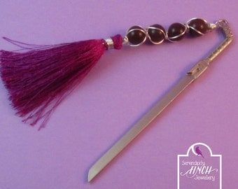 Sword Bookmark, Purple Aventurine Wire Wrapped Bookmark, Fantasy Bookmark, UK