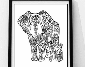 horse coloring page to print and color nature adult coloring - Mom Baby Horse Coloring Pages