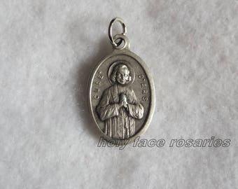 St John Vianney Curé d'Ars Jean-Baptiste-Marie Vianneye Religious Catholic Patron Saint Priests Pastors Silver Oxidized Pendant Medal Italy