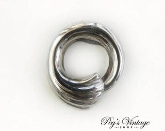 Vintage SilverTone Lieba Scarf Clip / Slide, Dress Sweater Clip, Trending Fashion Accessory
