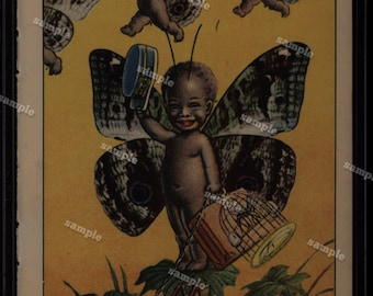 Black American  from Children fairies double sidel art decorative art art decor home decor