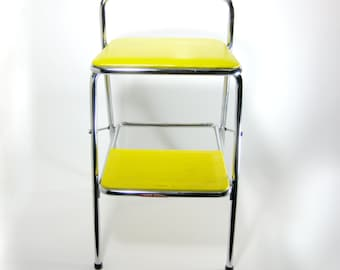Vintage Cosco Folding Chair ~ Vintage Booster Seat ~ Cosco Kitchen Stool ~ Yellow