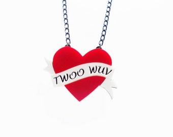 Twoo Wuv - Princess Bride necklace