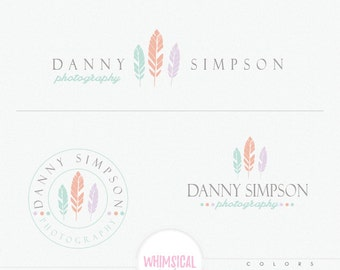 Three soft feathers - western style Logo - boutique handmade products logo