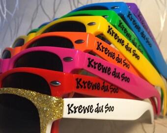 Mardi Gras Bachelorette sunglasses New Orleans/Krewe/Big Easy/bachelor party NOLA