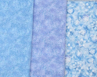 SALE, Pastel Fabric, Summer Fabric, Lavender, Pale Blue, Spring Fabric, Wedding Fabric, Quilt Fabric