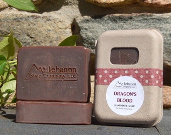 Dragons Blood Soap - Homemade Soap - Patchouli Soap - Dragon Blood - Cold Process Soap - Vanilla Scented Soap - Dragon - Vegan -