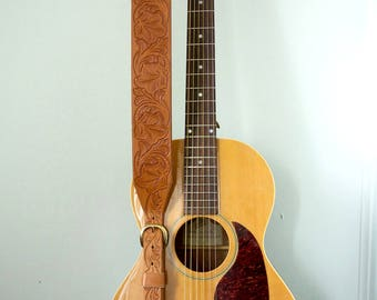 Tooled Leather Guitar Strap