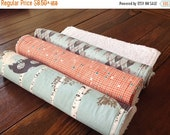 SALE Chenille Burp Cloths ~ YOU Choose 1 or all 3! ~ Art Gallery ~ Indelible ~ Grove/Trees/Geometric/Triangle