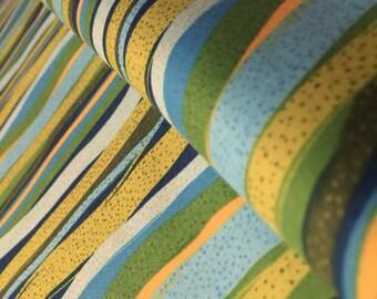 Wavy Stripes Ocean Garden Fabric by Susan Brack for P and B Textiles Cats Secret Garden  -100% Quality Cotton y Yard