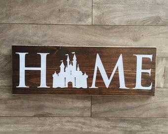 "Disney Home sign - wood - 5.5""x18""x3/4"""
