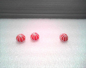 Basketball Pin  and Earring Set