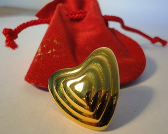 Escada Margaretha Ley Brooch Heart, Gold Plated