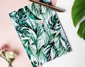 Girl Boss paradise palms with metallic foiling A5 notebook
