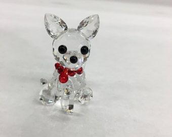 Chihuahua crystal figurine