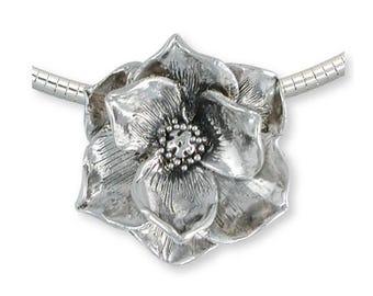 Magnolia Pendant Jewelry Sterling Silver Handmade Flower Pendant MG3-CS