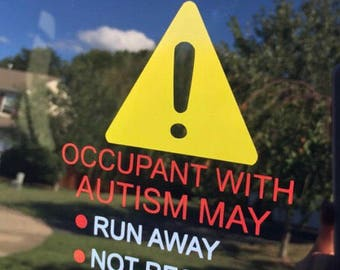 Autism Car Decal - ICE - Emergency Alert - Special Needs Alert- Medical Alert - In Case of Emergency - Autism Alert