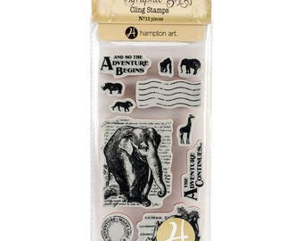 Graphic 45 SAFARI ADVENTURE 1 Cling Stamps IC0362S cc55