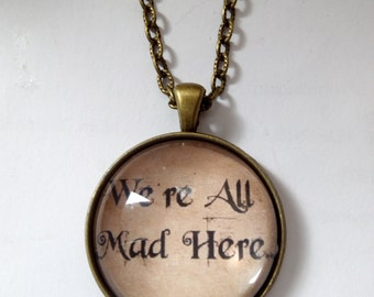 Alice un wonderland necklace