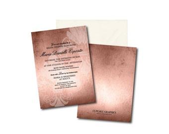 Rustic Fleur de Lis Bridal Shower Invitation