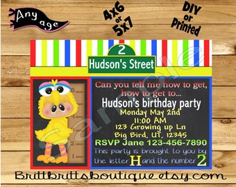 Invitation first Birthday party Invitations Custom 1st Birthday invite baby shower invitation 4x6 or 5x7 Digital OR Printed with envelopes