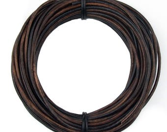 Gypsy Sippa Round Leather Cord 1.5mm 100 meters (109 yards)