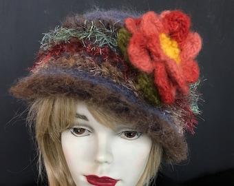Fuzzy warm Denim Blue Hat