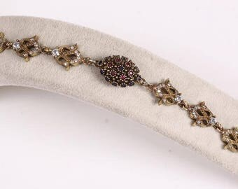 Handmade Antique Style Topaz And Sterling Silver Bracelet